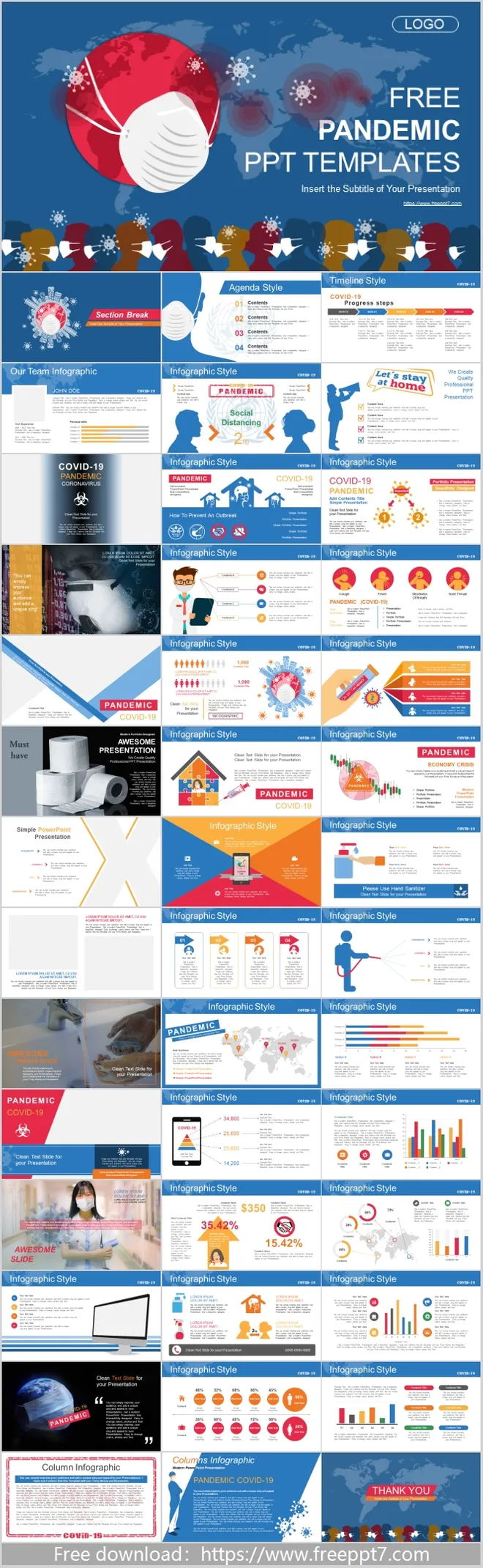 Global covid-19 PowerPoint templates