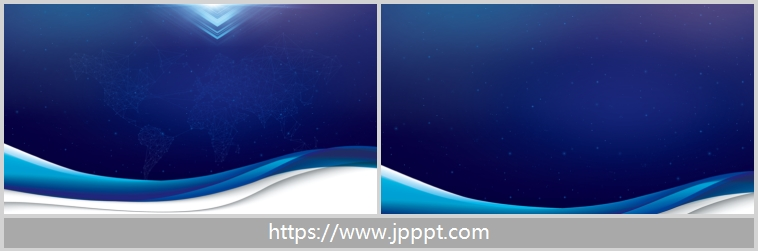 Exquisite blue curve PPT background image