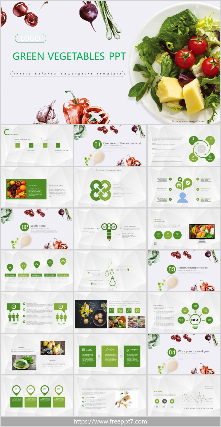 Fruits and vegetables PowerPoint templates