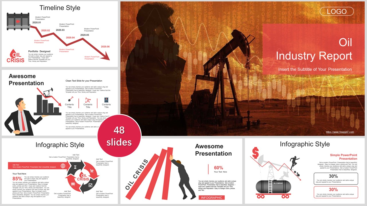 Oil Industry Report PowerPoint templates