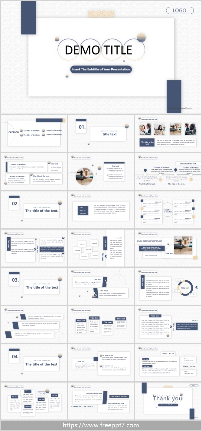 Suspended Card Style PowerPoint Templates
